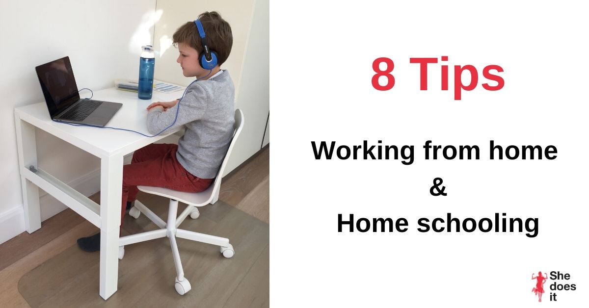 Tips work from home and home schooling